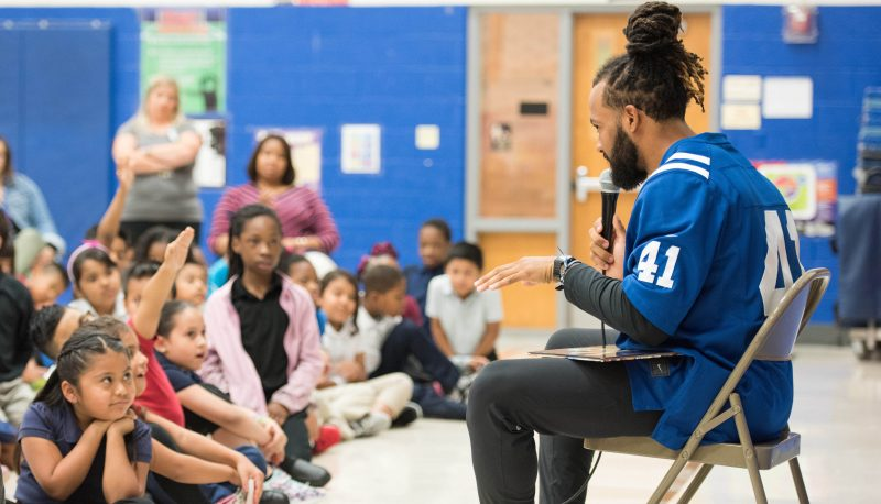 Colts Players Visit Four IPS Schools