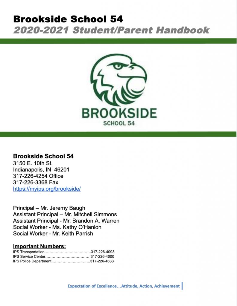 2020-2021 Brookside Student Handbooks