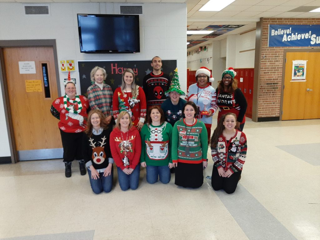 Staff Ugly Sweater Day Dec 2019