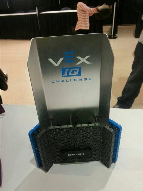 The VEX IQ Judges Award Trophy
