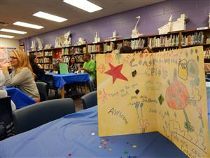 CFI 84 students made cards to celebrate their sister school's accomplishment!