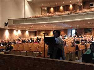 Speakers share feedback at Arlington HS public meeting