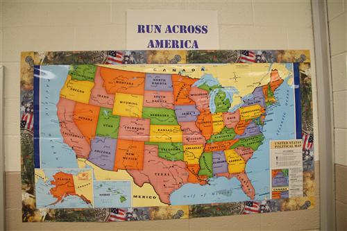 Photo of a map of the United States.