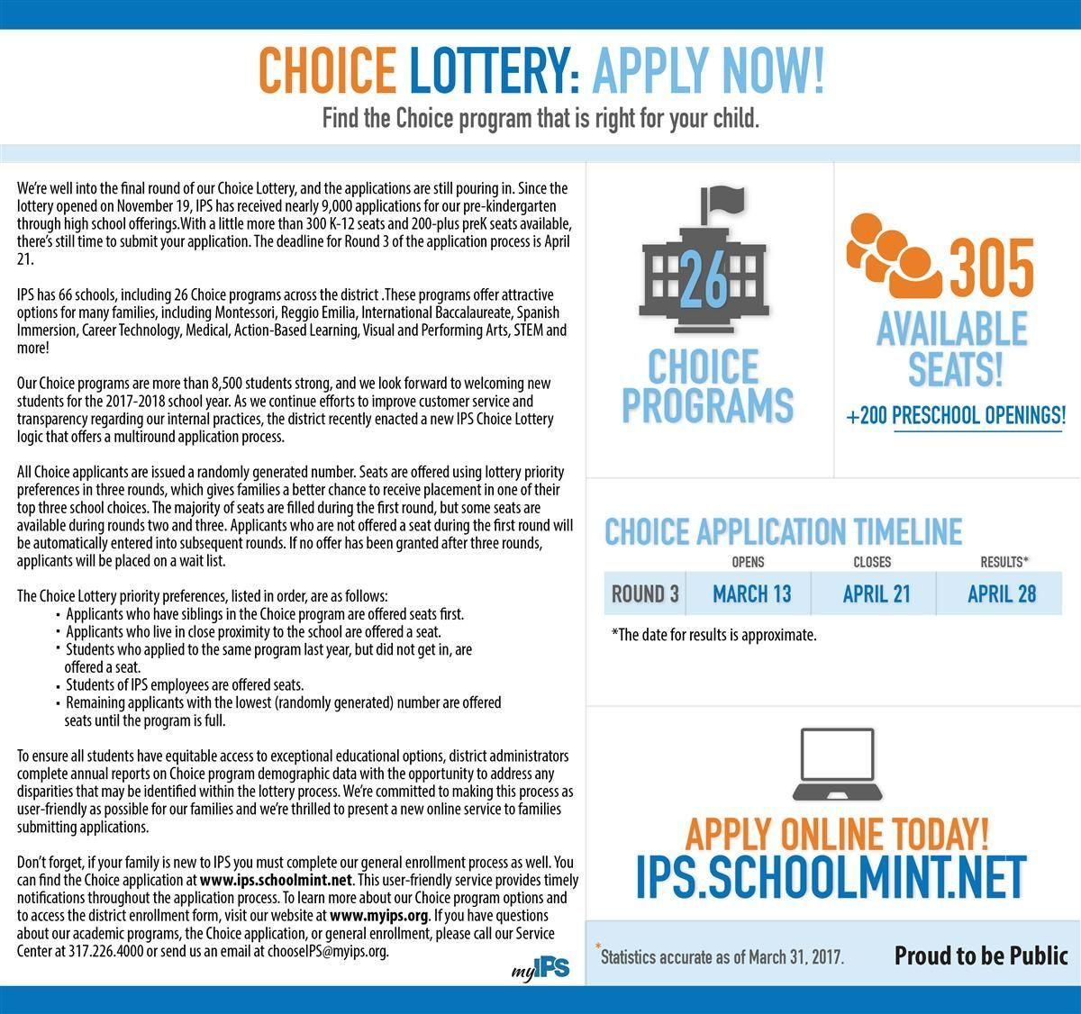 Final Choice Lottery Application