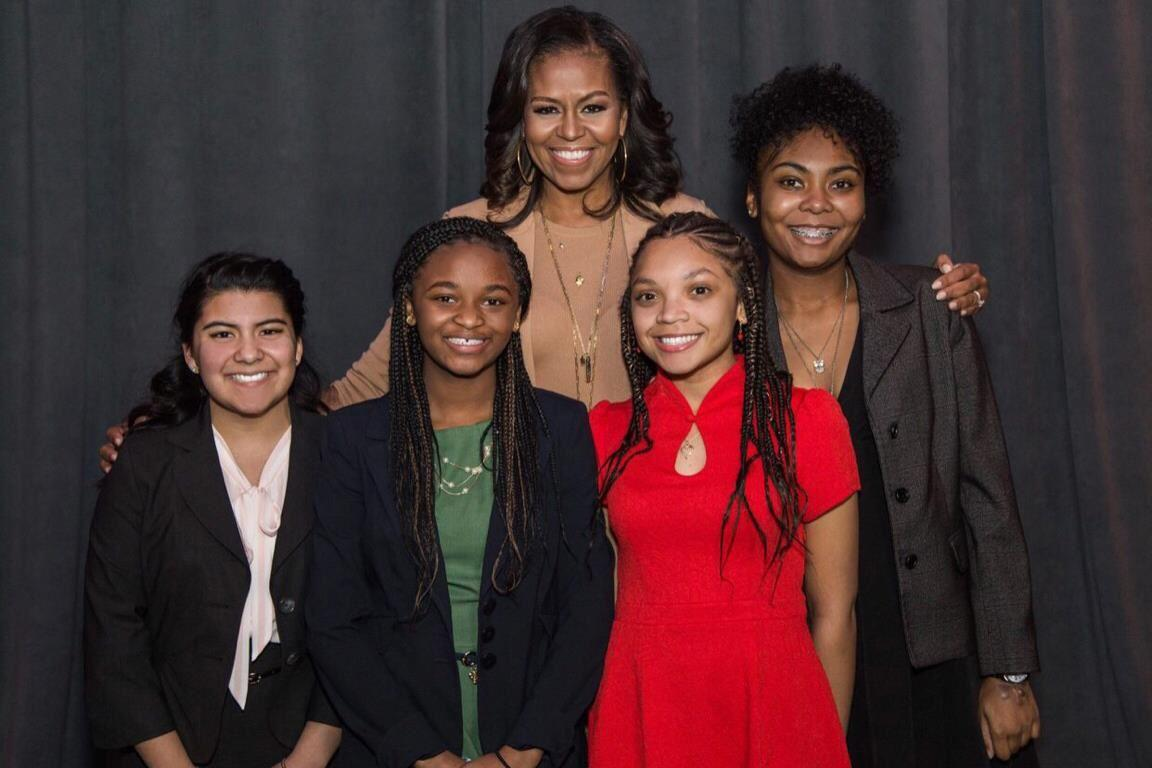 Arsenal Tech Girls Meeting with Michelle Obama