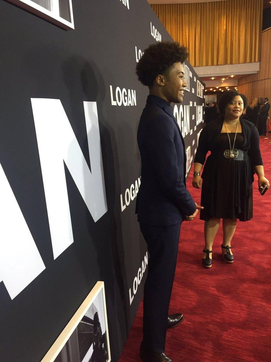 "Quincy Fouse on the Red Carpet during the ""Logan"" premiere"