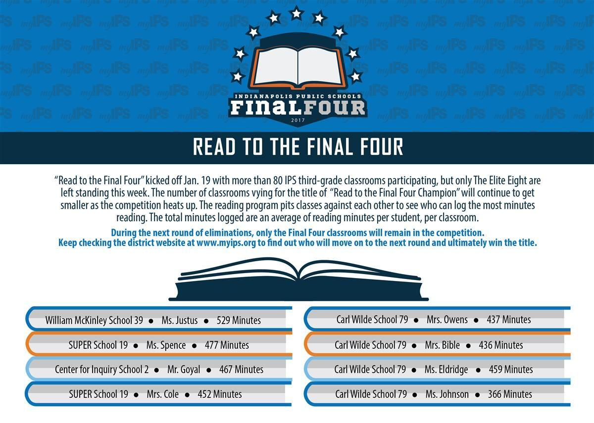 Sweet 16/Read to the Final Four