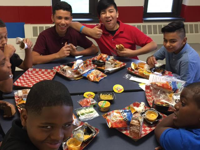 Super School 19 students enjoy lunch on first day of school