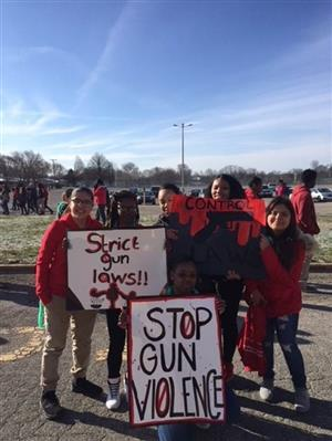IPS students participate in National Walkout Day