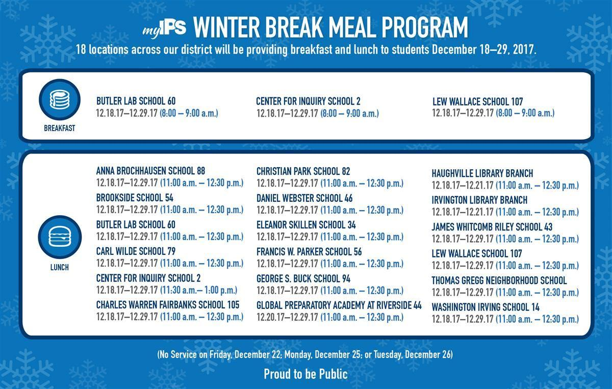 Winter Break Meal Program