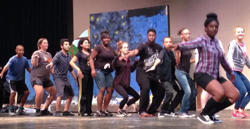 Broad Ripple Magnet High School Theatre students bond during their Team Building Day.