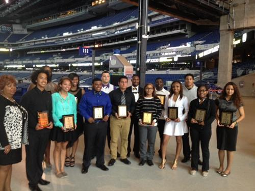 Student athletes honored at Lucas Oil Stadium