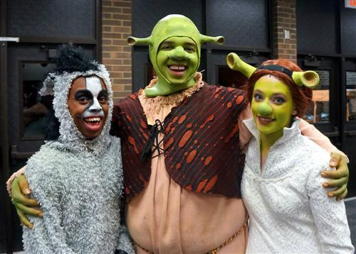 Arsenal Tech students in Shrek.