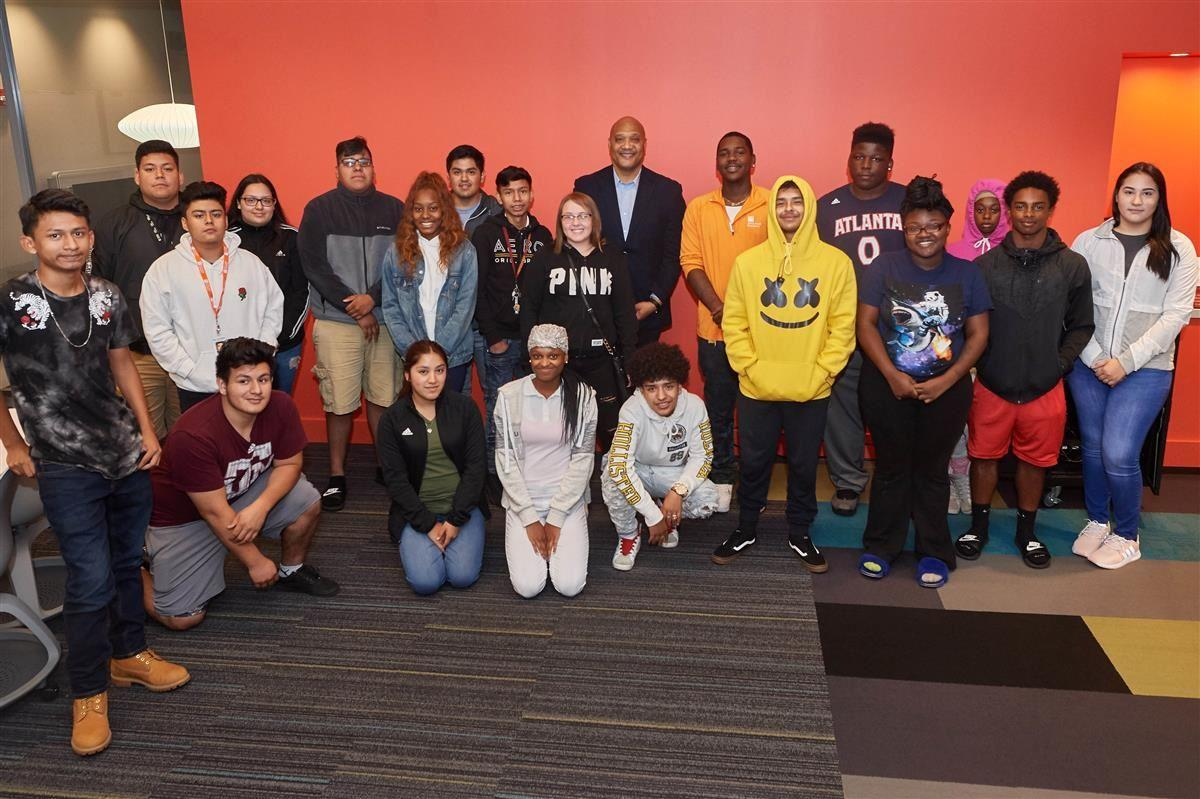 Andre Carson visits Simon Youth Academy