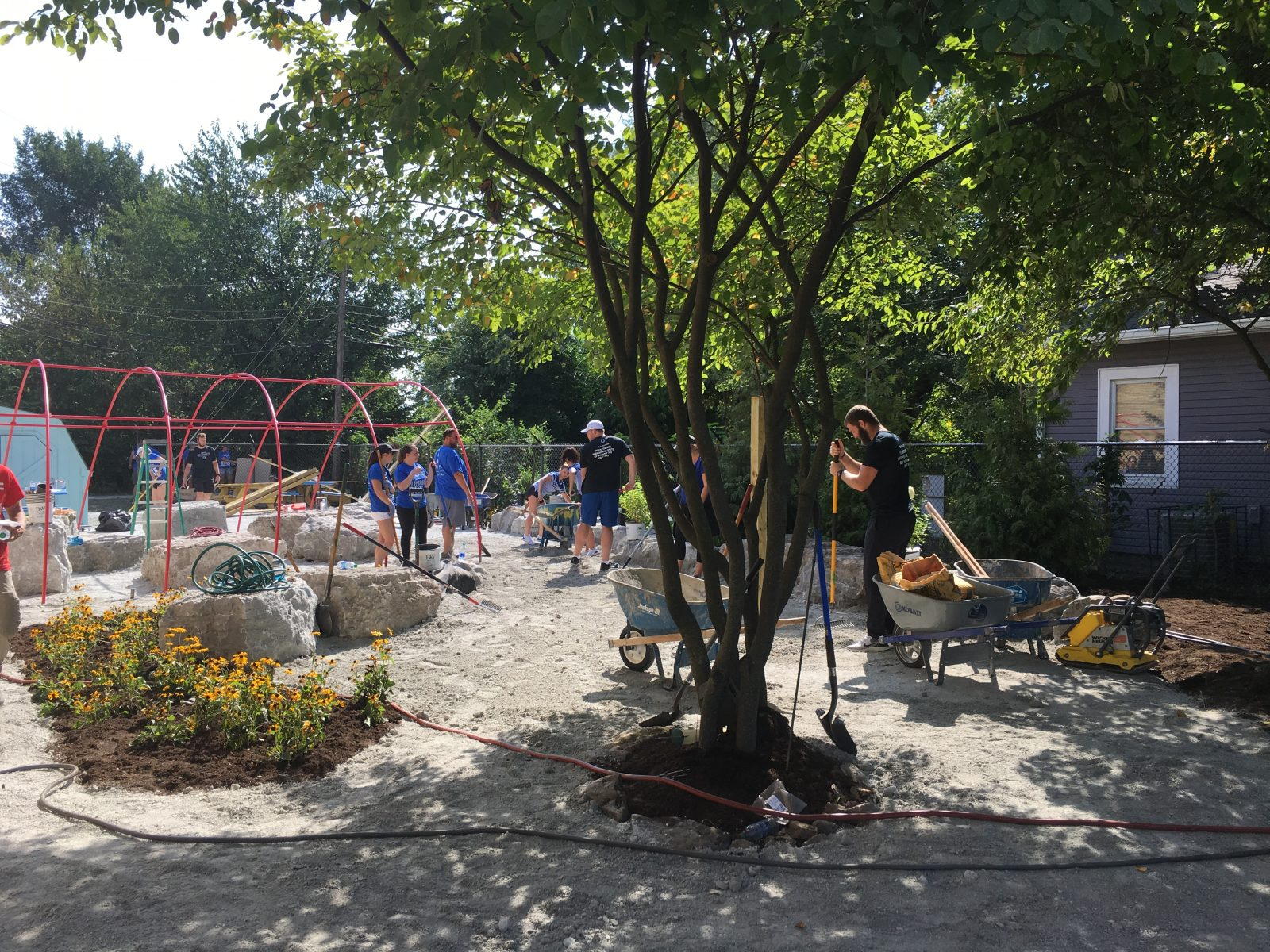 Indianapolis Colts Build Playground at Francis W. Parker School 56 6