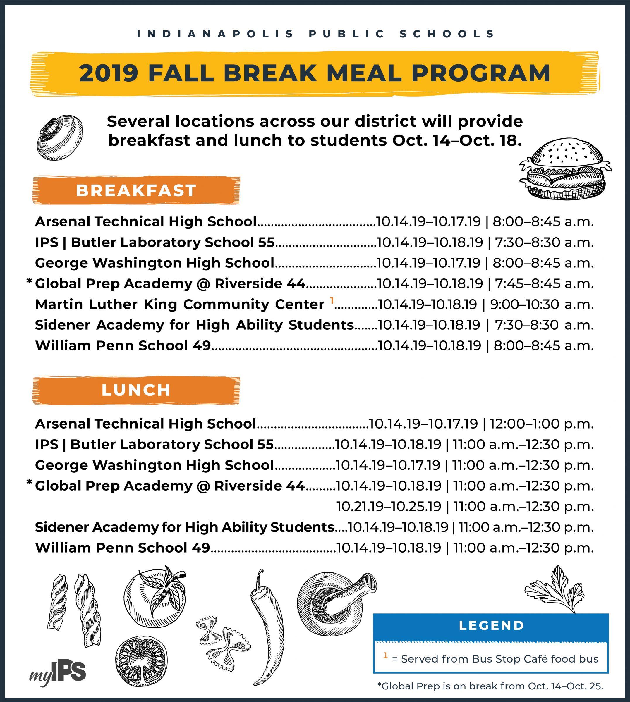 District Prepares forFall Break Meal Program 2