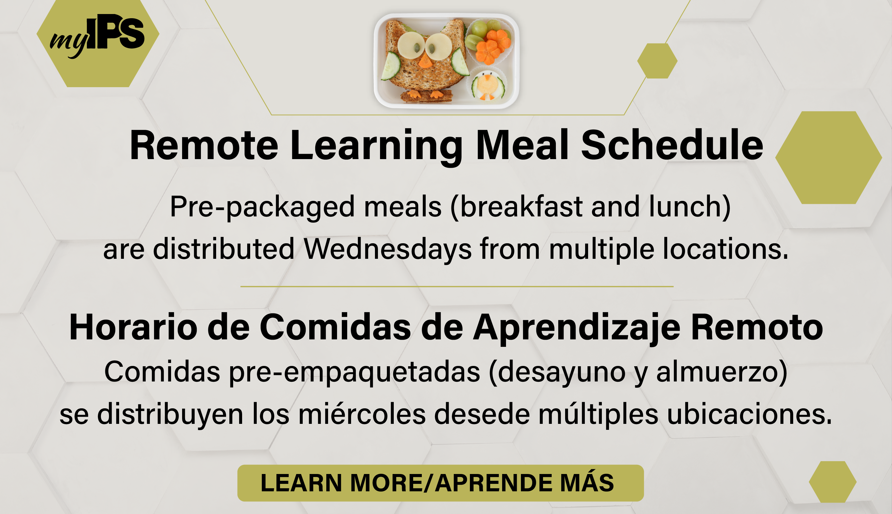 remote learning meal schedule
