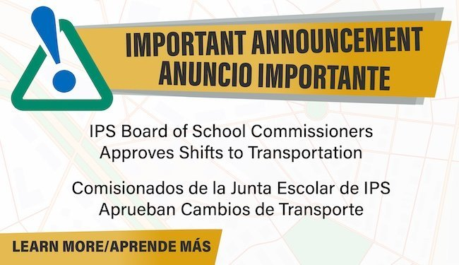 transportation announcement
