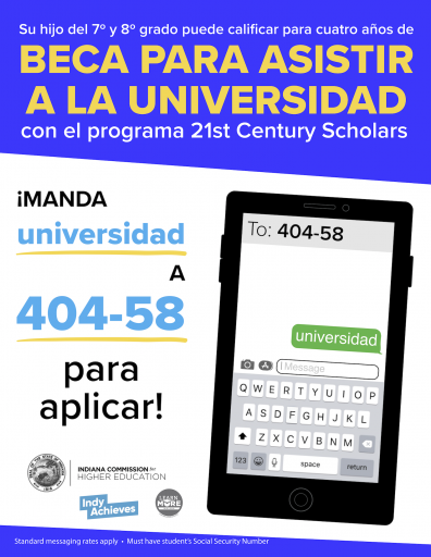21st Century Scholars Scholarship Application Available Now! 2